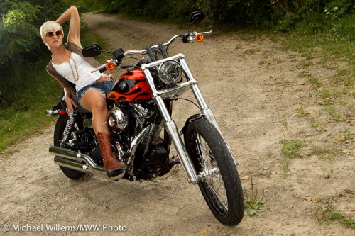 Biker chick, by Michael Willems