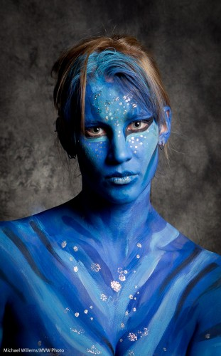 Bodypaint Model at the Imaging Show