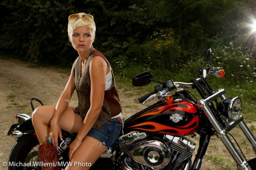 Harley Chick - Shot by Michael Willems and Joseph Marranca, Mono, 2010