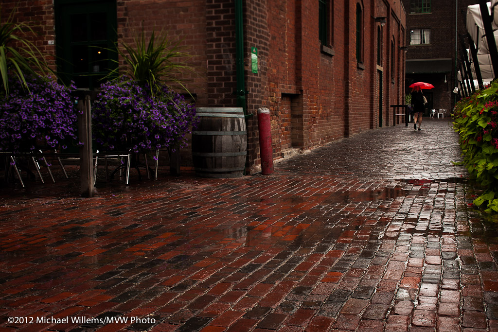 &quot;Red Umbrella&quot;, The Distillery District, Toronto, 8/2012 (Photo: Michael Willems)