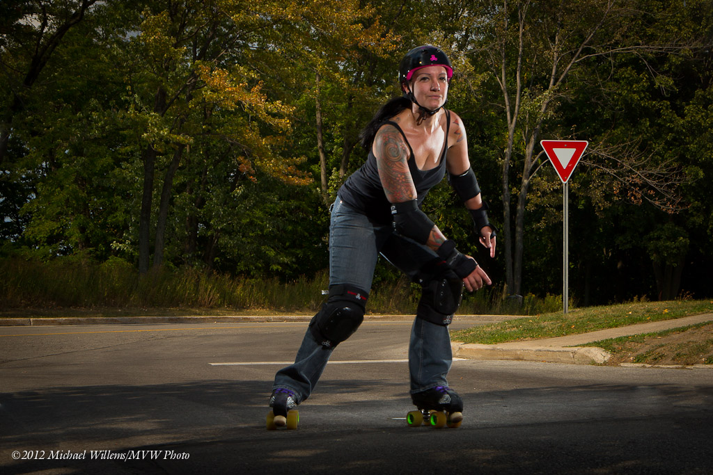 Roller Derby Chick, photo Michael Willems