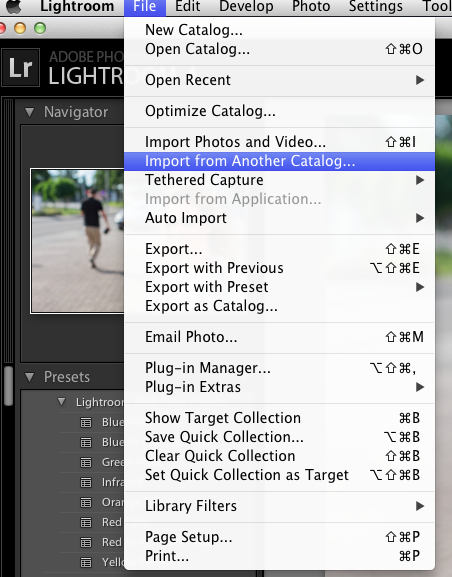 Lightroom import (Michael Willems)