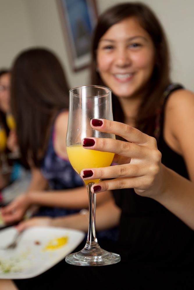 Cheers (Teen with orange juice)