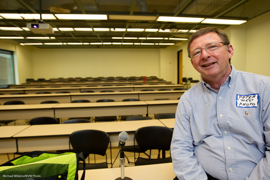 Peter West at Ryerson, before a Social Media workshop (photo: Michael Willems)